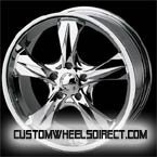 CWI Volkswagen wheels Wide 5 Star Chrome FWD Luxury/Passenger Car