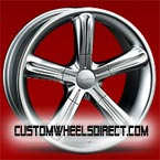 Diablo Wheels Morpheus with Small Black Inserts Chrome with Black Inserts RWD Truck/SUV