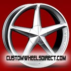 Diablo Wheels Reflection X Chrome with Black Inserts FWD Luxury/Passenger Car