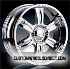 Diablo Wheels Ethos Tirado with Custom Color Inserts Chrome RWD Truck/SUV