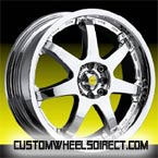 DUB Wheels Baller S115 with Old School Cap Chrome RWD Truck/SUV