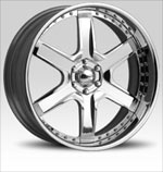 DUB Wheels Tremlo S134 Chrome with Black Inserts RWD Truck/SUV