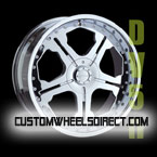 Gianna Wheels Blitz Chrome with Black Inserts RWD Truck/SUV