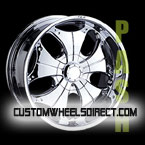 Gianna Wheels Blitz Black with Chrome Inserts FWD Luxury/Passenger Car