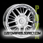 Gianna Wheels Blitz Black with Chrome Inserts RWD Truck/SUV