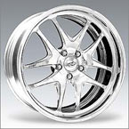 Gianna Wheels Crown Black with Chrome Inserts RWD Truck/SUV
