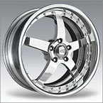 Gianna Wheels Helios Black with Chrome Inserts FWD Luxury/Passenger Car