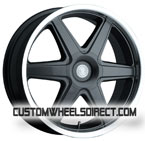 Ultra Wheels Apex Type 200 Black with Polished Lip FWD Luxury/Passenger Car